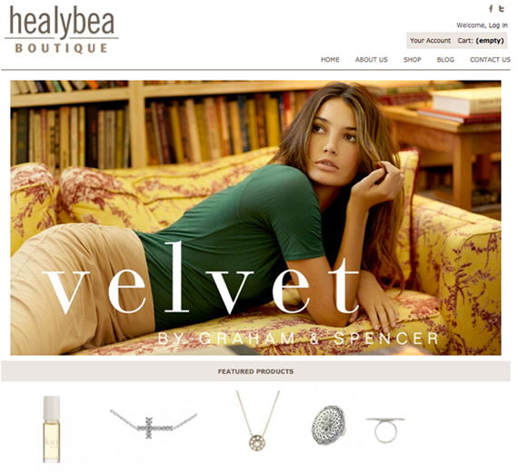 Healy Bea Ecommerce Web Site
