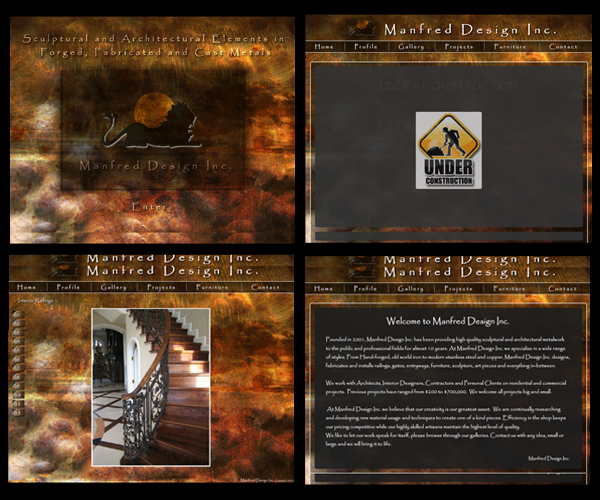 Manfred before Web Site Makeover